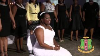 AKA Wedding Serenade Soror Scharona Grimsley-Dawkins