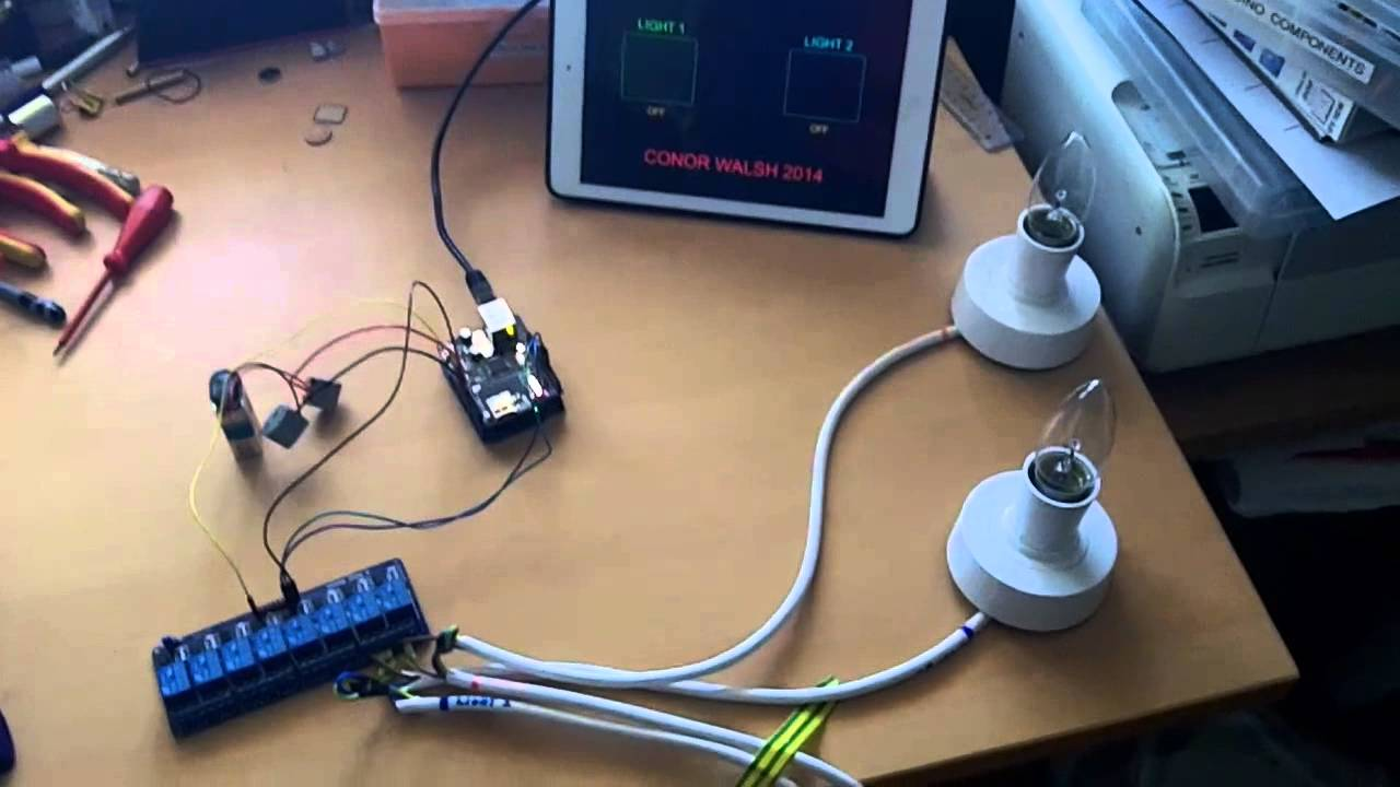 Control lights from ipad using arduino and touchosc youtube