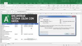 Excel: Como encontrar la última celda con datos en una columna de Excel