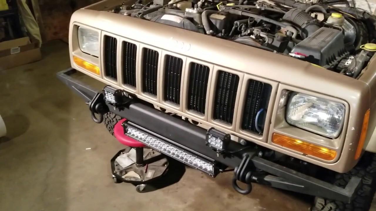 auxbeam 22 120w 5d light bar w wiring harness 2000 jeep cherokee xj install [ 1280 x 720 Pixel ]