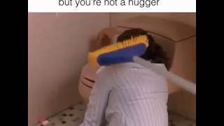 Vines : When your Friend is upset, but you're not a hugger