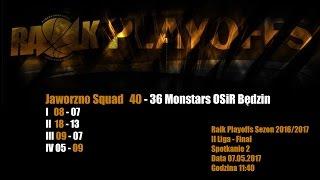 Baixar Jaworzno Squad - Monstars OSiR Będzin 40:36 (RALK Playoffs FINAŁ - Spotkanie nr 2 )