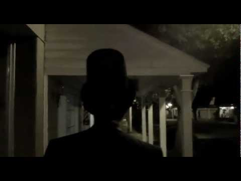 Jewell McKnight with Abe Lincoln in a cell phone commercial/ CenterStage