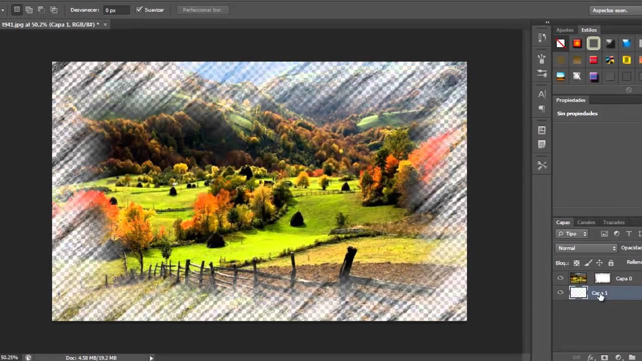 Hacer un marco artistico con filtro en photoshop cs5 cs6 2014 - YouTube
