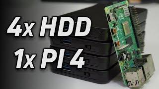 Build a Raspberry Pi NAS with 4 Hard Drives and RAID