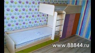 видео Белая двухъярусная кровать