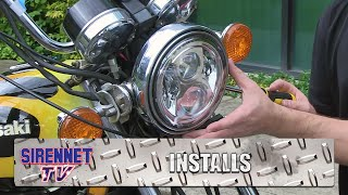 Kawasaki Motorcycle Headlight Conversion with a J.W. Speaker Model 8700 Evolution 2