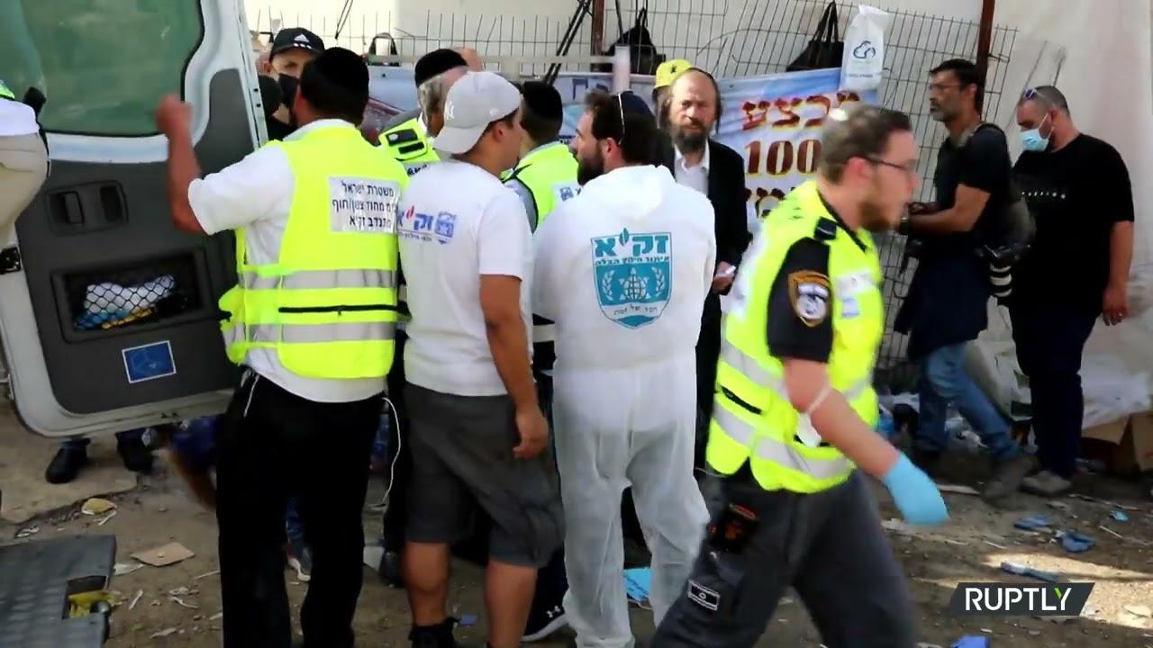 Israel: Paramedics, ZAKA volunteers and police Evacuate Stampede Victims' Bodies from Meron