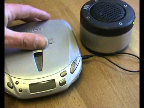 sony discman cd audio book player resume play re starts cd from