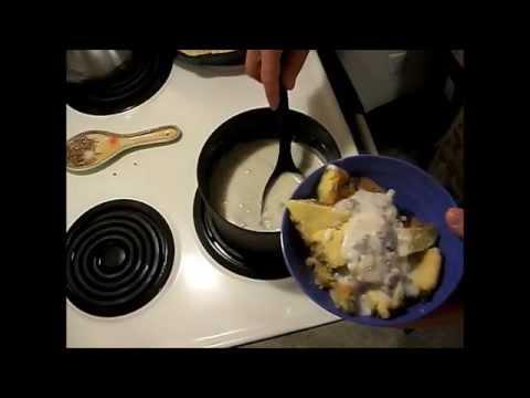 Cast Iron Sausage Cornbread and Sausage Gravy