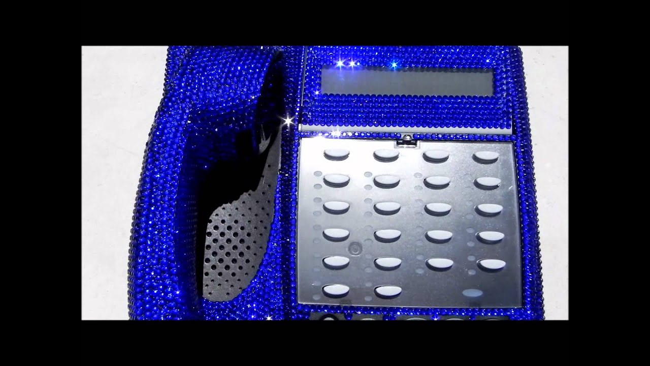 Bling Icy Couture Crystal Desk Home Office Phone Bedazzled In Swarovski