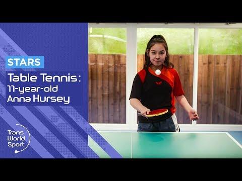 11-year-old Anna Hursey | Table Tennis Prodigy | Trans World Sport