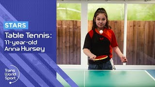11-year-old Anna Hursey | Table Tennis Prodigy | Trans World Sport