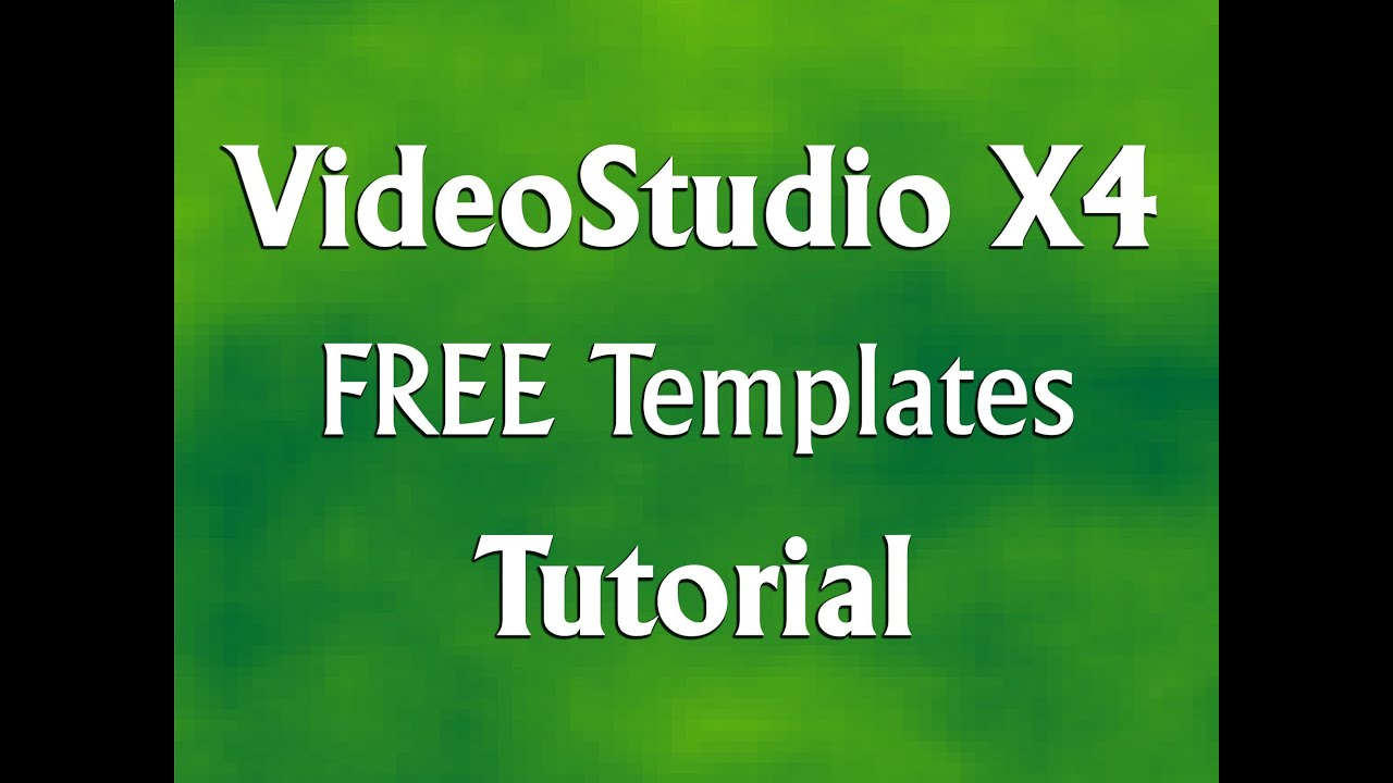 Corel videostudio pro x4 how to download free templates for Corel video studio templates download