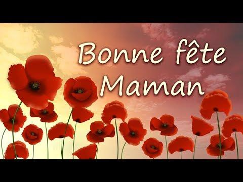 BONNE FETE MAMAN - Jolie carte virtuelle de fête des mères - YouTube