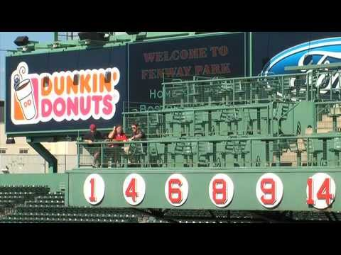 "Fenway Park Boston Red Sox - Retired Numbers and famed ""Red Seat"""
