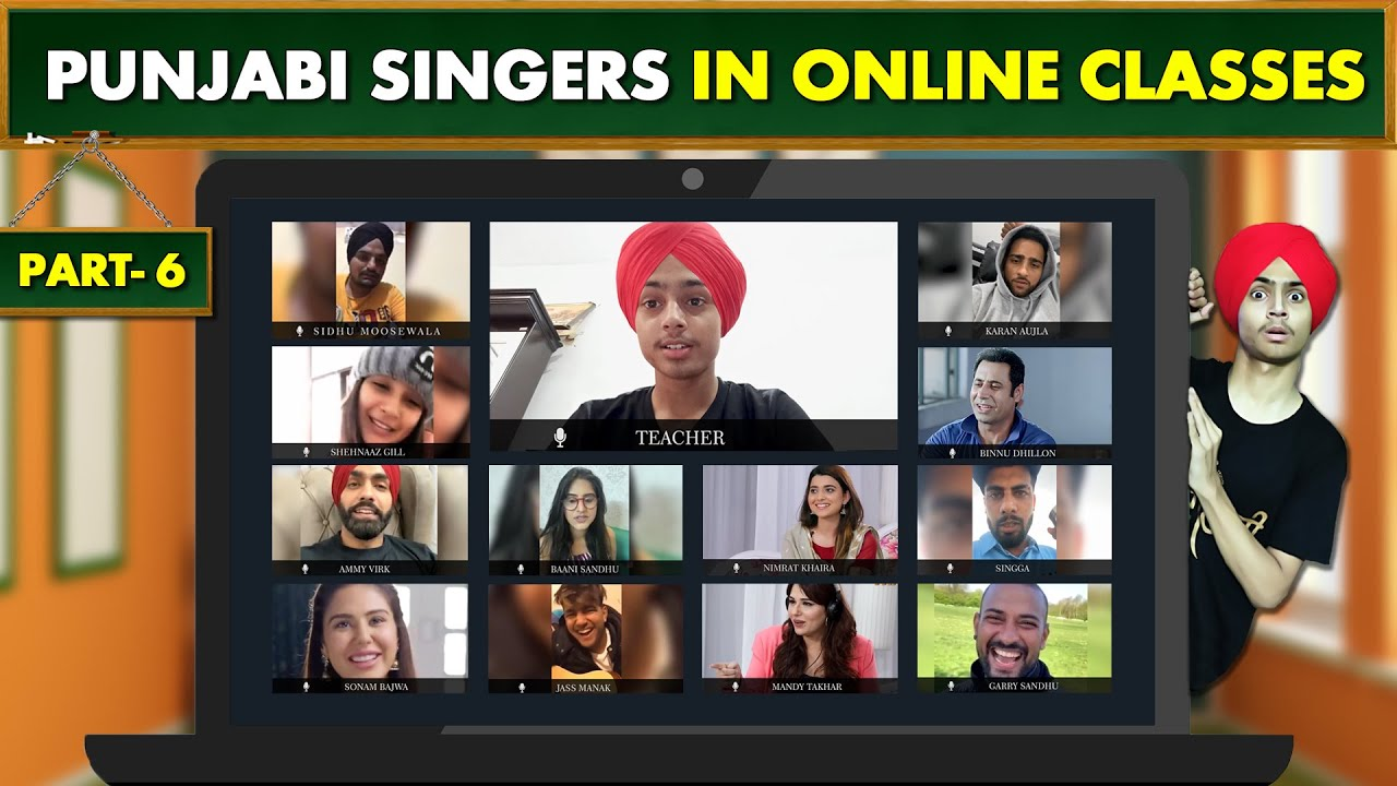 PUNJABI SINGERS in ONLINE CLASSES  | Part 6 | Funny Conversation | HARSHDEEP SINGH