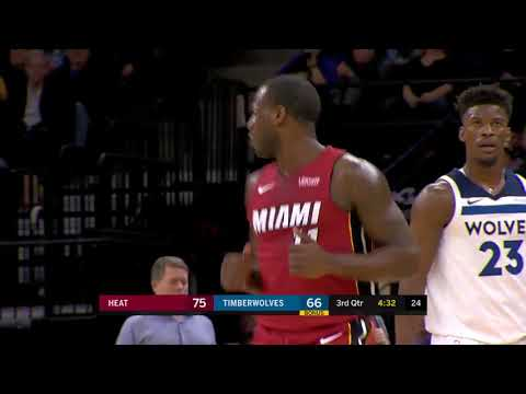 November 24, 2017 - NBA - Miami Heat Hit 19 Three Pointers (Vs Minnesota Timberwolves)