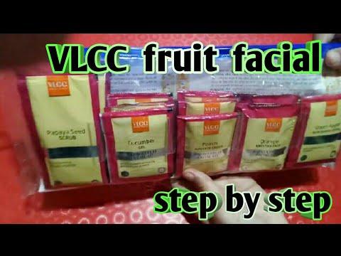VLCC fruit facial / facial steps in hindi /gayatri beauty parlour