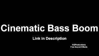 Cinematic Bass Boom   Free Sound Effects HD with download link