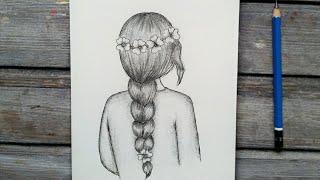 رسم بنت مع شعر مموج ومكياج رائع Mp3