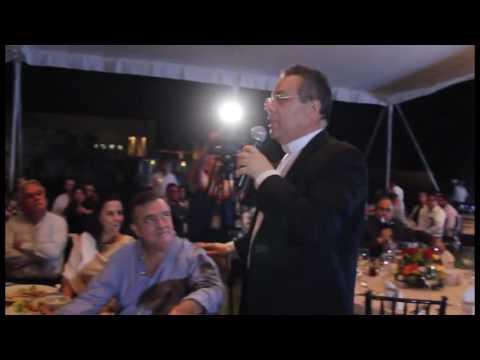 Evento del Country Club Mérida Monseñor Eduardo Chávez y Fernando Ojeda