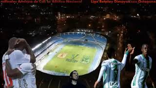 Liga Betplay Dimayor 2020 Octagonales semifinales América de Cali vs Atlético Nacional