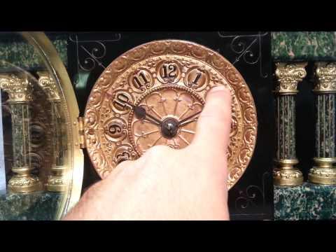 Antique Seth Thomas 4- Pillar Adamantine Mantel Clock circa 1880