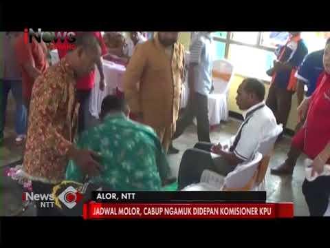 INews NTT - Calon Wakil Bupati Mengamuk, Penarikan Nomor Urut Pilkada Di Alor Molor