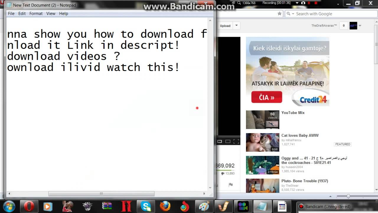 How to Download youtube videos (Ilivid) Free download 2013 ...