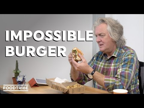 James May tries a meatless burger