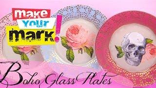 How to: Boho Glass Plates DIY