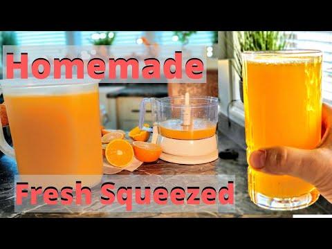 Fresh Squeezed Homemade Orange Juice - Best Method