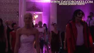 MUST WATCH!! Surprise Thriller Dance at wedding with David Boakes Michael Jackson Impersonator