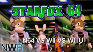 Star Fox 64: N64/Wii/Wii U Comparison