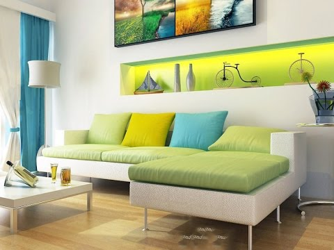 Modern White Green Aqua Blue Living Room Part 38