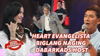 HEART EVANGELISTA BIGLANG NAGING DABARKADS HOST | Bawal Judgmental | March 13, 2020