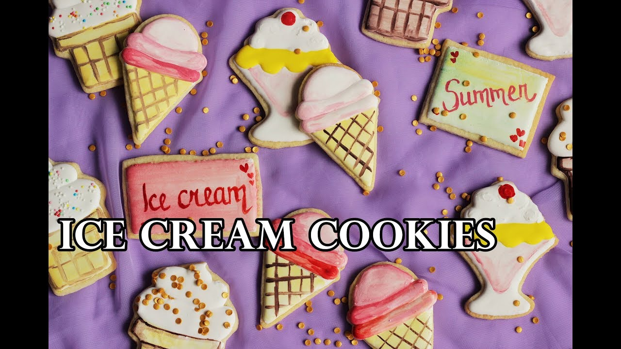 ICE CREAM COOKIE DECORATING USING WILTON CUTTERS TUTORIAL   YouTube ICE CREAM COOKIE DECORATING USING WILTON CUTTERS TUTORIAL