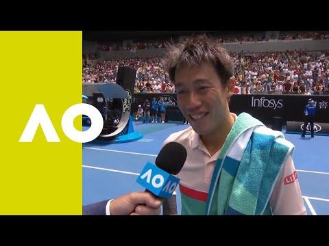 Kei Nishikori on-court interview (2R)   Australian Open 2019