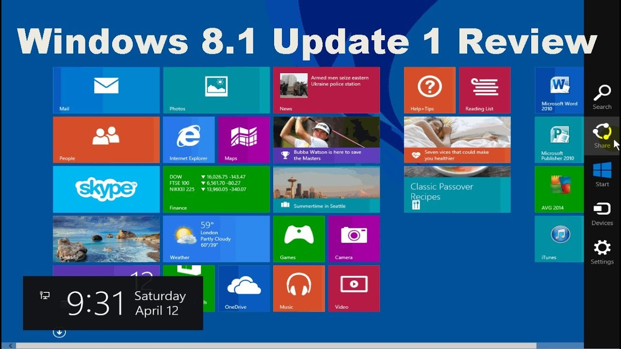 Windows 8 1 Review - Tips  U0026 Tricks - Beginners Tutorial Video Guide