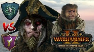 Vampire Coast vs Dark Elves | HARD NOC LIFE - Total War Warhammer 2: Curse of the Vampire Coast