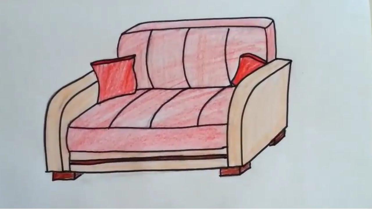 Koltuk Nasıl 231 Izilir How To Draw A Armchair Youtube