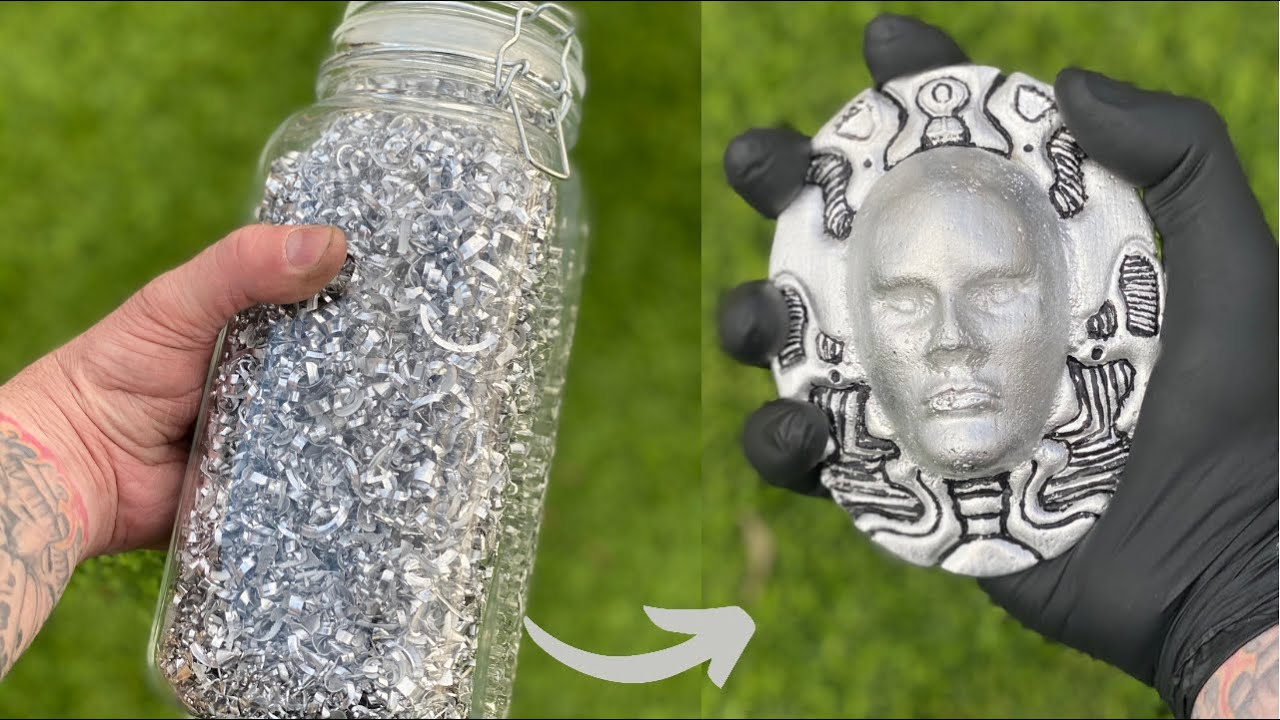 Scrap Swarf Sand Casting - Trash To Treasure - ASMR Metal Melting - BigStackD Aluminum Casting