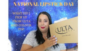 NATIONAL LIPSTICK DAY| ULTA AND COLOUR POP
