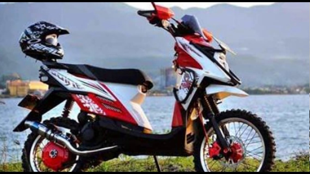 Video Modifikasi Motor Matic Yamaha X Ride Off Road Type Trail Youtube