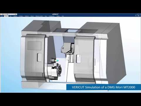 DMG Mori Machine Tool CNC Simulation with VERICUT