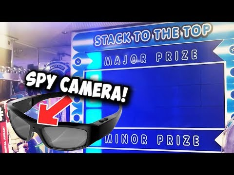 I WON A SPY CAMERA FROM STACKER! (First Try!!)    Arcade Games