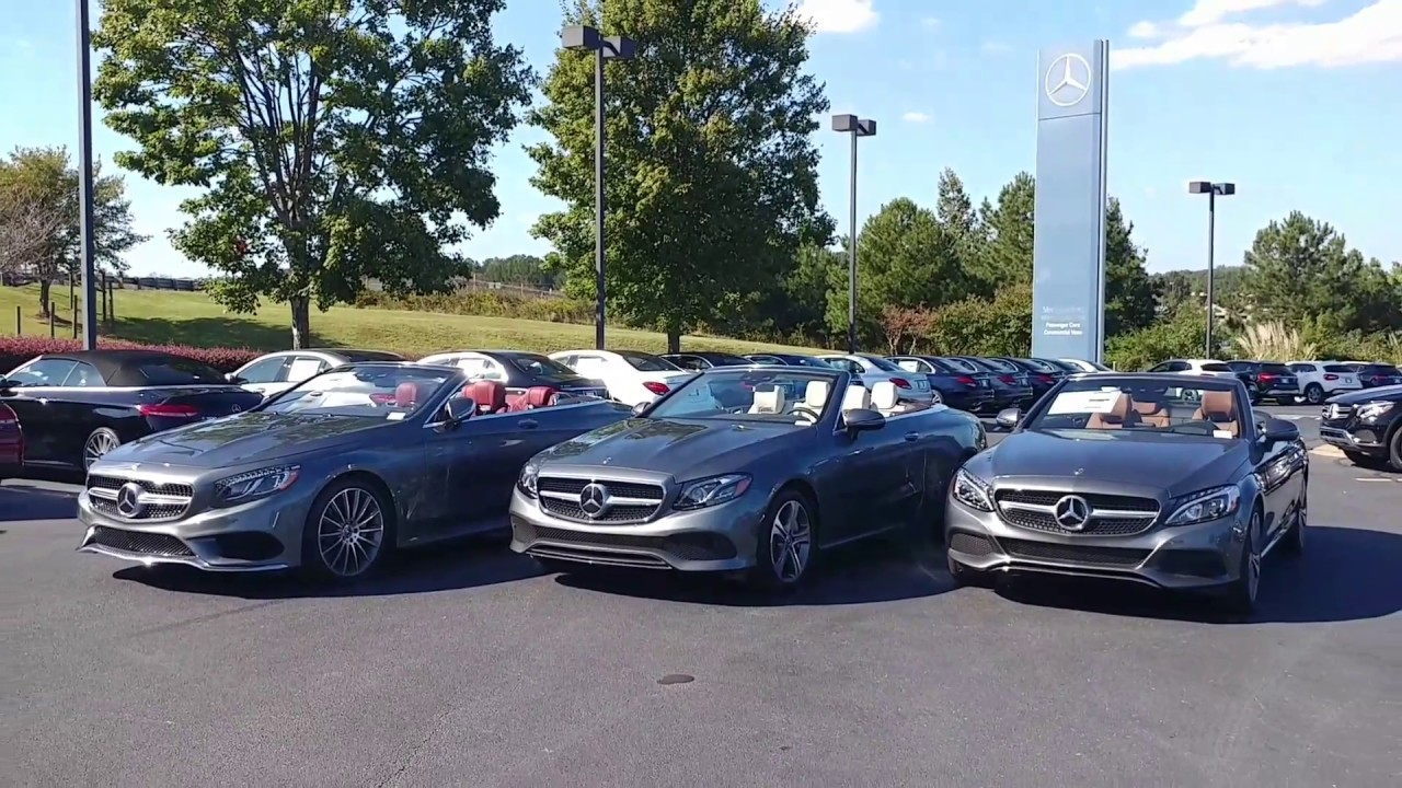 Mercedes Benz Cabriolet Differences Compare C300 E400 And S550
