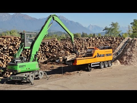 "DOPPSTADT DH-910 SA Woodchipper + Volvo Trucks & Loader ""BETTEGA BIOMASSE"""
