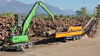 """DOPPSTADT DH-910 SA Woodchipper + Volvo Trucks & Loader """"BETTEGA BIOMASSE"""""""